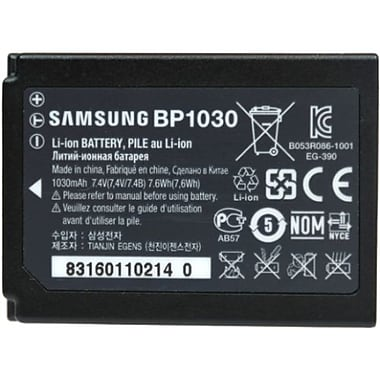 Samsung ED-BP1030 7.4 VDC Lithium Ion Camera Battery, 1030 mAh