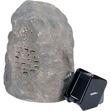 C2G 41306 Wireless Rock3 Speaker With Dual Power Transmitter, Grey/Granite