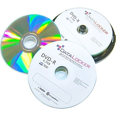 DataLocker SecureDisk 4.7GB 16X Self Encrypting DVD-R, Jewel Case, 10/Pack