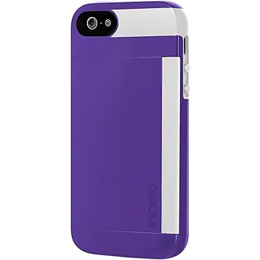 Incipio® Credit Card Hard Shell Case for Apple iPhone 5, Royal Purple/Optical White