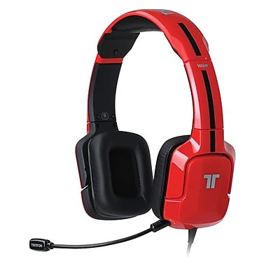 Mad Catz® TRI881040003/02/1 Over-the-Head Headset, Red