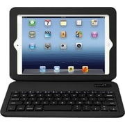 Aluratek Slim Color Folio Case With Bluetooth Keyboard For iPad Mini, Black
