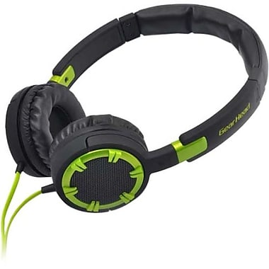 Gear Head® HQ4750 Dynamic Bass Stereo Over-the-Head Headphone With Noise Isolation, Green