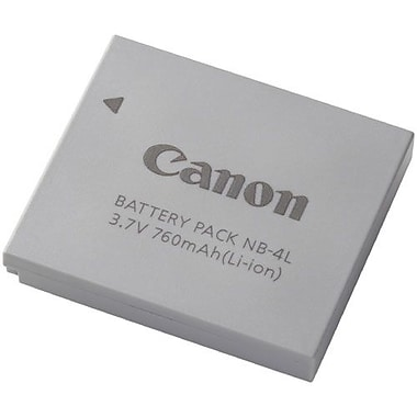 Canon 9763A001 3.7 VDC Lithium Ion Rechargeable Camera Battery, 760 mAh