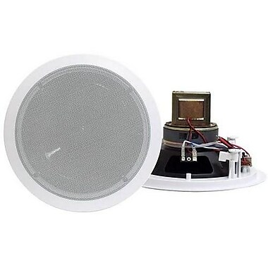 Pyleaudio® PD-IC60T Round Ceiling Speaker System With 70 V Transformer, White