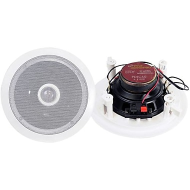 Pyleaudio® PD-IC60 Two-Way Ceiling Coaxial Speaker System, White