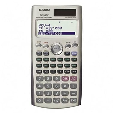 Casio® FC200V Financial Calculator With Direct Mode Key