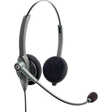 VXi Passport 21P Over-the-Head Headset, Silver/Black