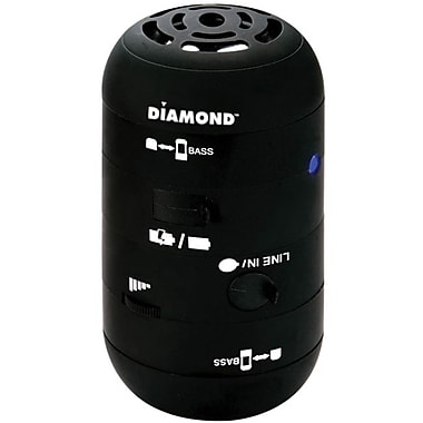 Diamond MSPBT200B Mini Rocker Mobile Portable Wireless Bluetooth Speaker, Black