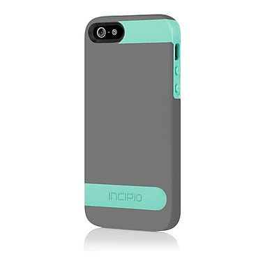 Incipio® Hard Shell Molded Case for Apple iPhone 5, Charcoal Gray/Navajo Turquoise