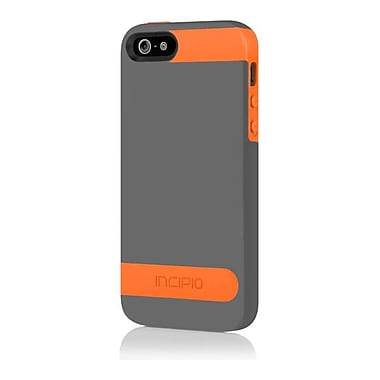 Incipio® OVRMLD Flexible Hard-Shell Case For iPhone 5, Graphite Gray/Sunkissed Orange