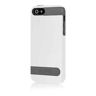 Incipio® Hard Shell Molded Case for Apple iPhone 5, Optical White/Charcoal Gray