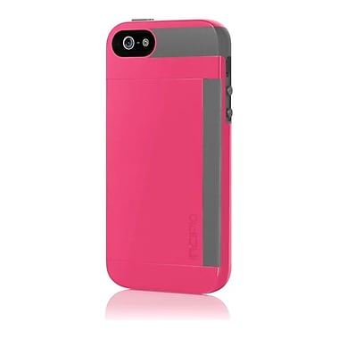 Incipio® Credit Card Hard Shell Case for Apple iPhone 5, Cherry Blossom Pink/Charcoal Gray