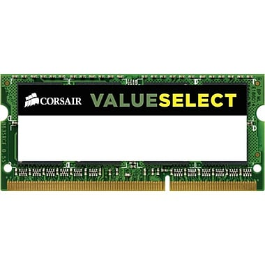 Corsair™ ValueSelect 8GB (1 x 8GB) DDR3 (204-Pin SoDIMM) DDR3 1600 (PC3 12800) Laptop Memory