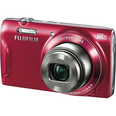 Fujifilm T550 16 Mega Pixels Digital Camera, Red