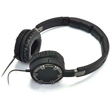 Gear Head® HQ4750 Dynamic Bass Stereo Over-the-Head Headphone With Noise Isolation, Gray