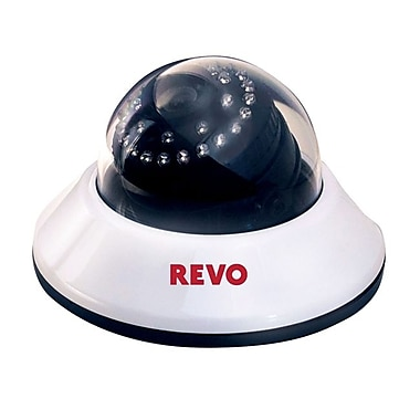REVO RCDS30-3 Wired Dome Camera with Day/Night Vision, White