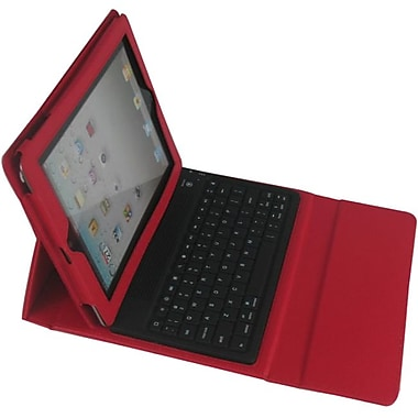 Ergoguys iPad Case with Builtin Bluetooth Keyboard, Red