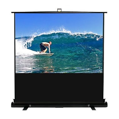 Elite Screens® ezCinema Plus Series 74inch Portable Projection Screen, 4:3, Black Casing