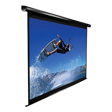 Elite Screens® VMAX2 Series 100inch ez-Electric Projection Screen, 1:1, Black Casing