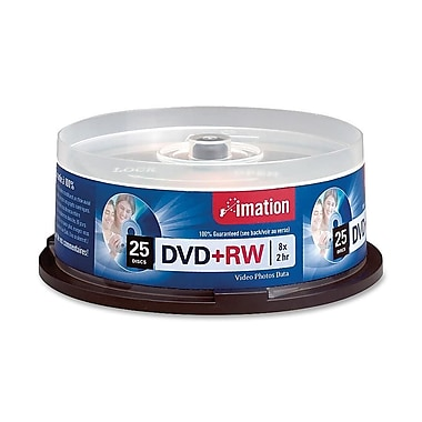 Imation 4.70GB 8X DVD+RW, Spindle, 25/Pack