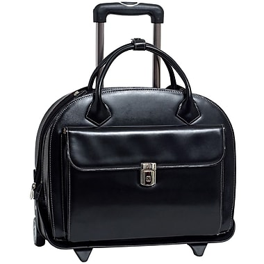 McKlein W Series Glen Ellyn Ladies' Briefcase With Removable Sleeve For 15.4inch Notebook, Black