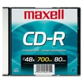 Maxell 700MB 48X CD-R, Slim Jewel Case, 1/Pack