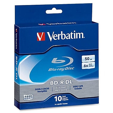 Verbatim® 97335 50GB Blu-ray Dual Layer Disc, Spindle, 10/Pack