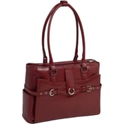 McKlein Roseville 15.4inch Ladies' Briefcase, Red