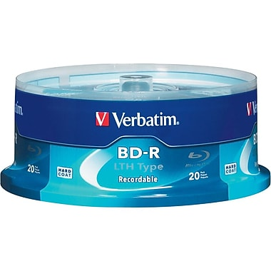 Verbatim® 97344 25GB Blu-ray Recordable Disc, Spindle, 20/Pack