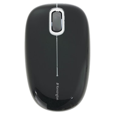 Kensington® K72404US PocketMouse, Glossy Black/Matte Black/Gray