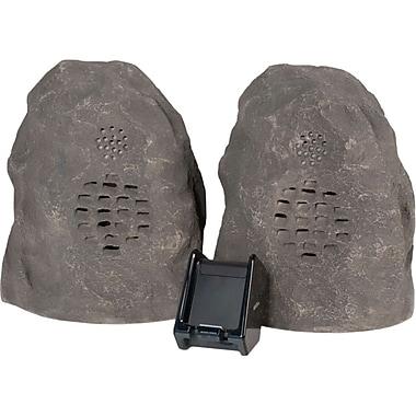C2G 41307 Wireless Rock Speaker Bundle With Dual Power Transmitter, Grey/Granite