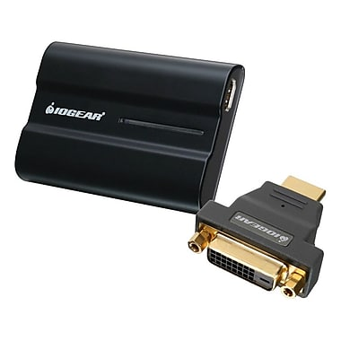 Iogear® GUC2025HD USB 2.0 to HDMI or DVI External Video Card Kit, 1 Port