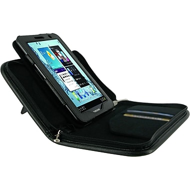 rOOCASE Executive Leather Case Cover For Samsung Galaxy Tab 2, Black
