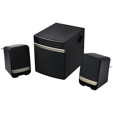 Gear Head™ SP3250 USB 2.1 Speaker System, 14 W RMS, Gold/Black