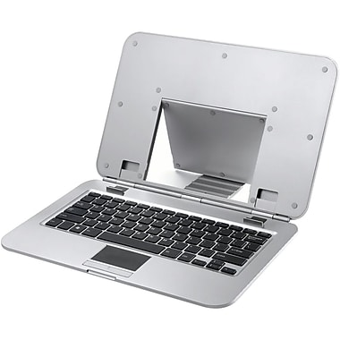 RTA 2COOL 2C-SK21H2 Ergo Laptop Stand With Built-In Bluetooth Keyboard, Silver