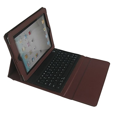 Ergoguys iPad Case with Builtin Bluetooth Keyboard, Brown