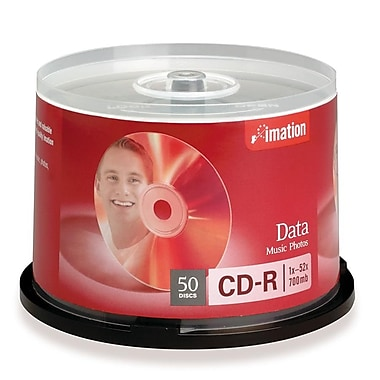 Imation 700MB 52X CD-R, Spindle, 50/Pack
