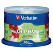 Verbatim® 700MB CD-RW, Spindle, 50/Pack