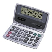 Casio ® SL-200TE 8 Digit Handheld Foldable Pocket Calculator, Silver