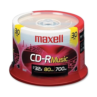 Maxell 700MB 32X CD-R, Spindle, 30/Pack