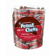 Mini Original Goldenberg's Peanut Chews, 100-Piece Tub