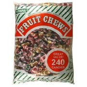 Assorted Fruit Chews, 240-Piece Bag