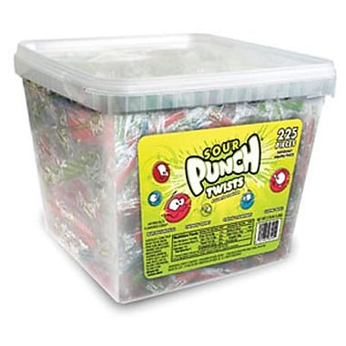 Wrapped Sour Punch Twist, 225-Piece Jar