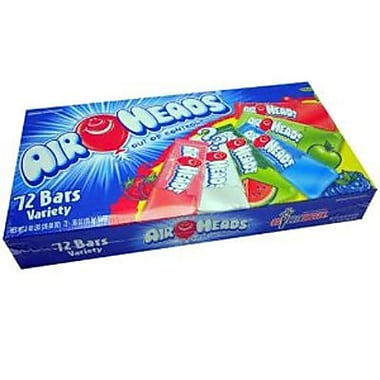 Airheads Box Assorted, 72 Bars/Box