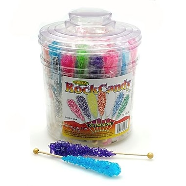 Rock Candy Sticks, 36-Piece Jar