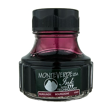 Monteverde Fountain Pen Ink Bottle Refills, 90ML, Burgundy