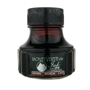 Monteverde Fountain Pen Ink Bottle Refills, 90ML, Brown