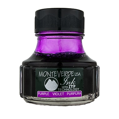 Monteverde Fountain Pen Ink Bottle Refills, 90ML, Purple
