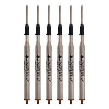 Monteverde® Medium Ballpoint Refill For Lamy Ballpoint Pens, 6/Pack, Brown